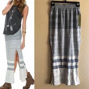 Kersh Women's Naomi Space dye Maxi Skirt Gray